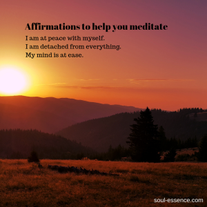 affirmations to help you meditate